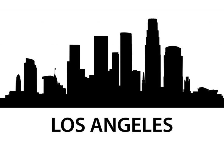 Los Angeles Skyline Silhouette | Details about Los Angeles USA City Skyline Silhouette Vinyl Wall Art ...