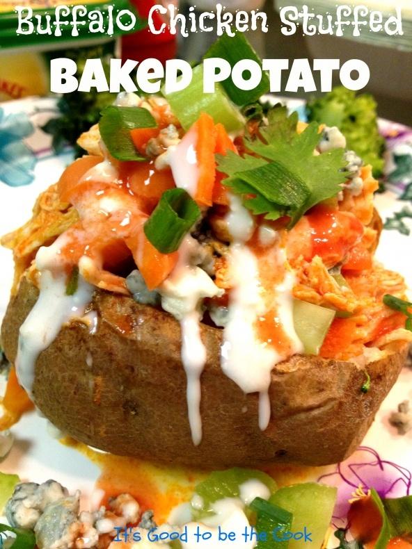 Buffalo Chicken Stuffed Baked Potato- What a great idea!