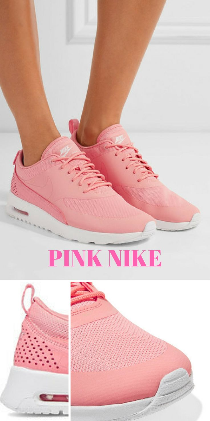 Women's PINK NIKE Tennis shoes. #Pink #Ad #Style #Fashion