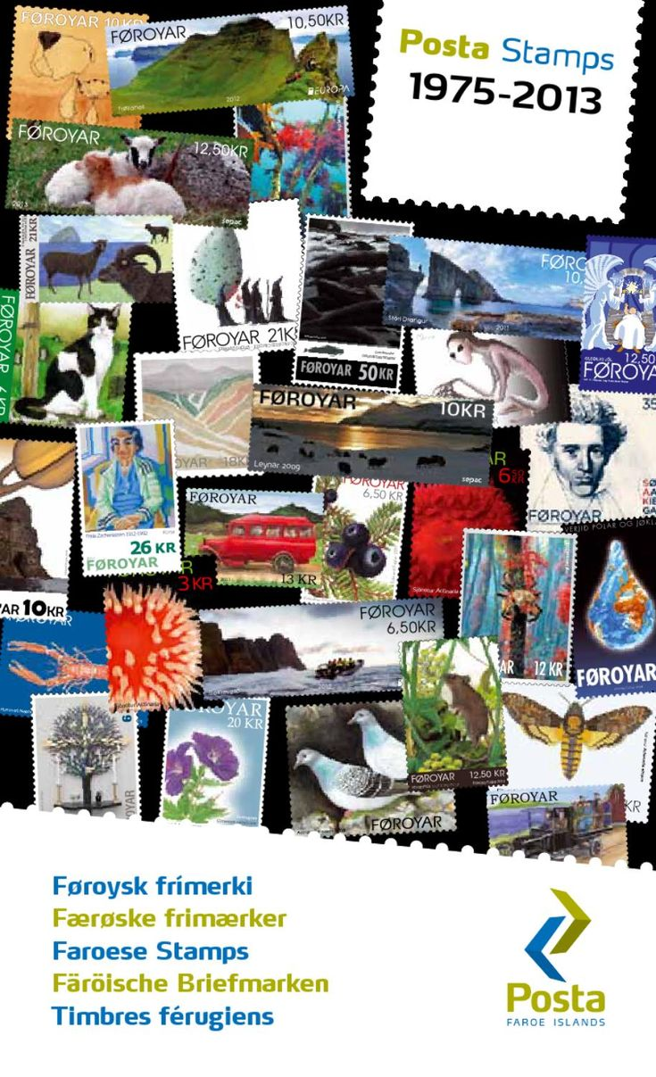 Faroese Stamps Catalogue 1975-2013  Catalogue listing all Faroese stamps since the first stamps were issued in 1975.