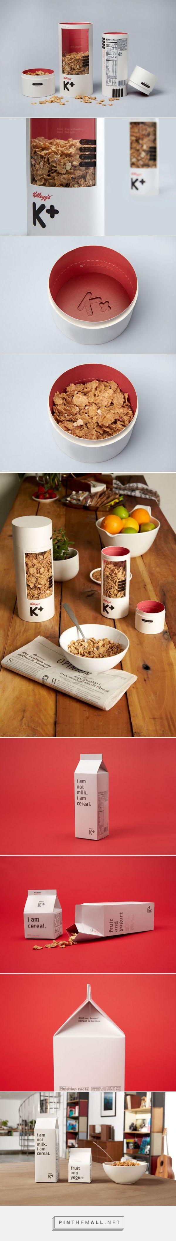 Mun Joo Jane – Cereal for Adults, student packaging concept  Inspiration: to use a milk carton as its easy to fold and functional