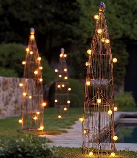 lights for the backyard trellis lighting i
