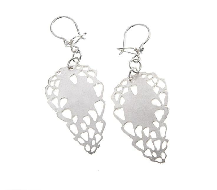 "Jenni Rutonen, ""Sydänkäpyseni"" (Sweetheart) sterling silver earrings.   JenniRutonen.com #Finland #valentine #heart"