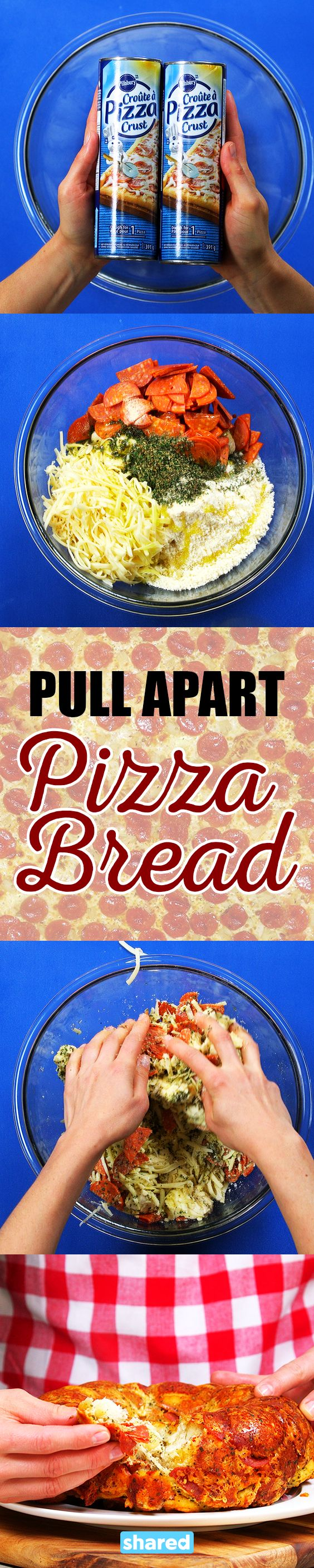 Pull Apart Pizza Bread