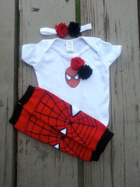 Spiderman Girl Onesie - Spider Girl - Super Hero - Baby Shower - Halloween - Birthday - 2T, 3T, 4T, 5T on Etsy, $20.00
