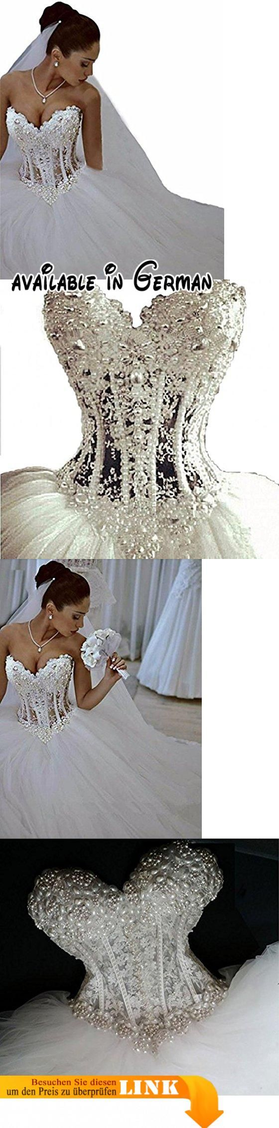 Changjie Damen Schulterfrei Brautkleid Prinzessin Luxus Kristall Perlen T¨¹ll Brautkleid Hochzeitskleid Lang. Organza, tulle,it is very soft and comfortable. Neckline:Strapless,The top are embellished with luxury beadings,it's shining. If u need it urgent,please feel free to contact us through message,we will check and let u know if we can finish on time. Note:Please check and use Amazon's Size Chart,Check carefully before order so as to avoid size problems,what we made