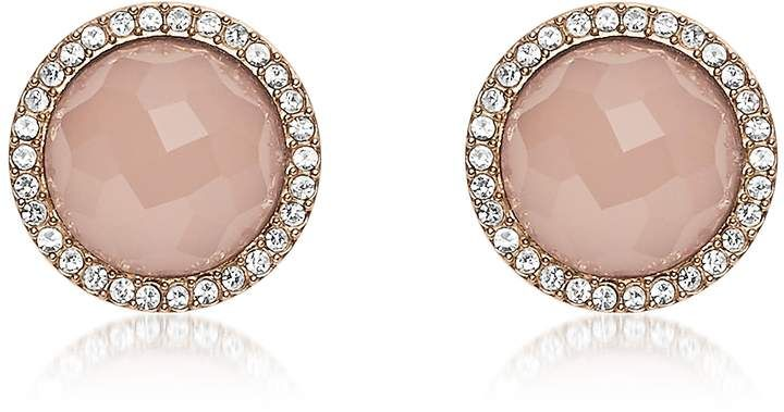 30f65b37007 Fossil Pink Stone Rose Gold Tone Stud Women's Earrings | Products ...