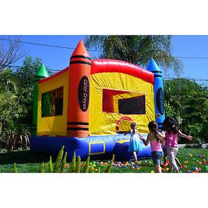inflatable bounce house crayon large commercial grade kids party castle bouncer - Inflatable Bounce House