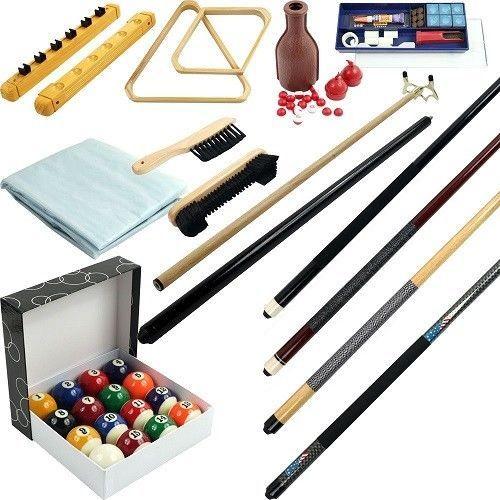 Billiard Accessory Set 32 Ball Cue Finish Kit Pc Piece Pool Stick Table Triangle #TrademarkGameroom