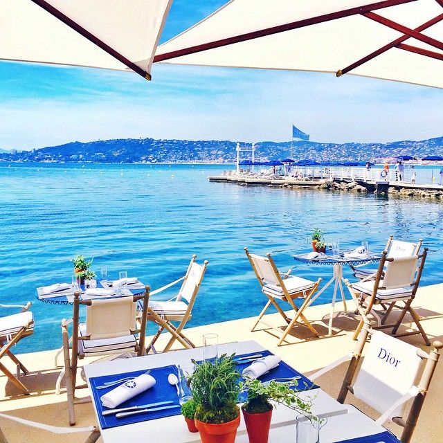 This can't be real - lunch along the French Riviera w/ @dior. Watch more on my Snapchat (username: garypeppergirl) #DiorCruise 😍