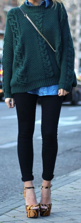 68 best How to wear: cable knit sweater images on Pinterest ...