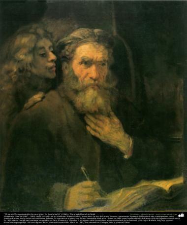 El ápostol Mateo (estudio de un original de Rembrandt) (1900) - Pintura de Kamal ol-Molk