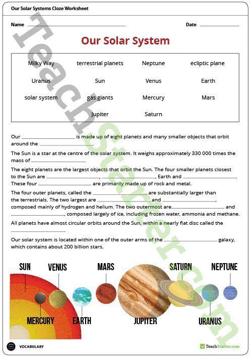 1000 idées sur le thème Solar System Worksheets sur Pinterest ...