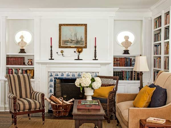 A 1900 House With Comeback Story Beach FireplaceTile FireplaceLiving Room