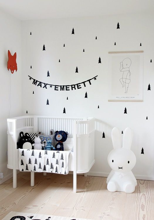Sweet simple white and bright nursery | Petit & Small