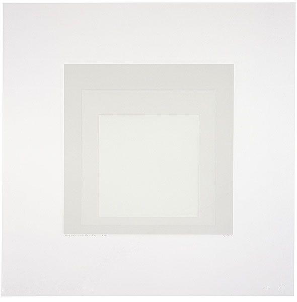 Josef Albers, Gray instrumentation IIc (1975).