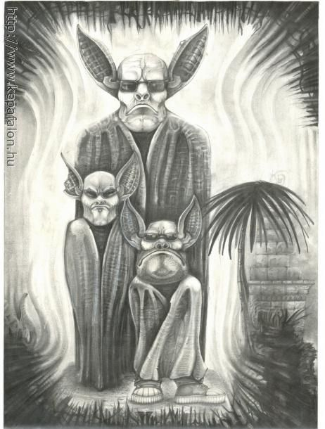 Mazán Mihály - Éjszakai műszak című festménye