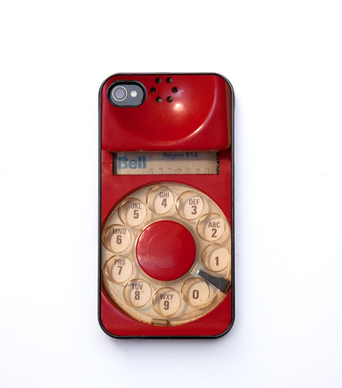 Cyber Monday Etsy Christmas, iPhone 4 Case, ruby red, vintage phone, dial phone, retro decor, iPhone 4s, iPhone 4 bomobob. $30.00, via Etsy.