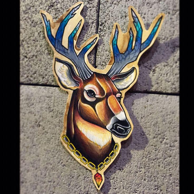 [작업예약가능]  deer❄️ 력셔리사슴:D - #deer#사슴#사슴타투도안#크리스탈타투#홍대타투#tattoovim#deertattoo#타투이스트크리스탈  카톡:qpqpgi