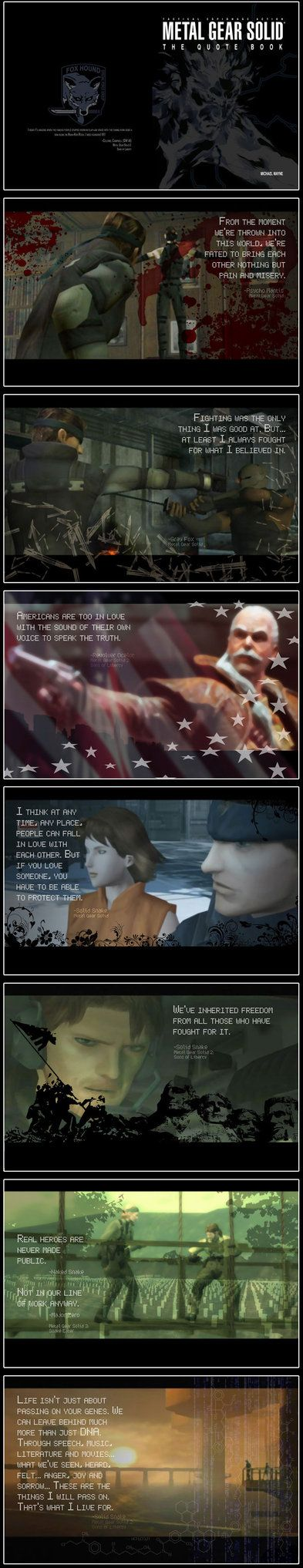 Metal Gear Solid - Quote Book by *MichaelMayne
