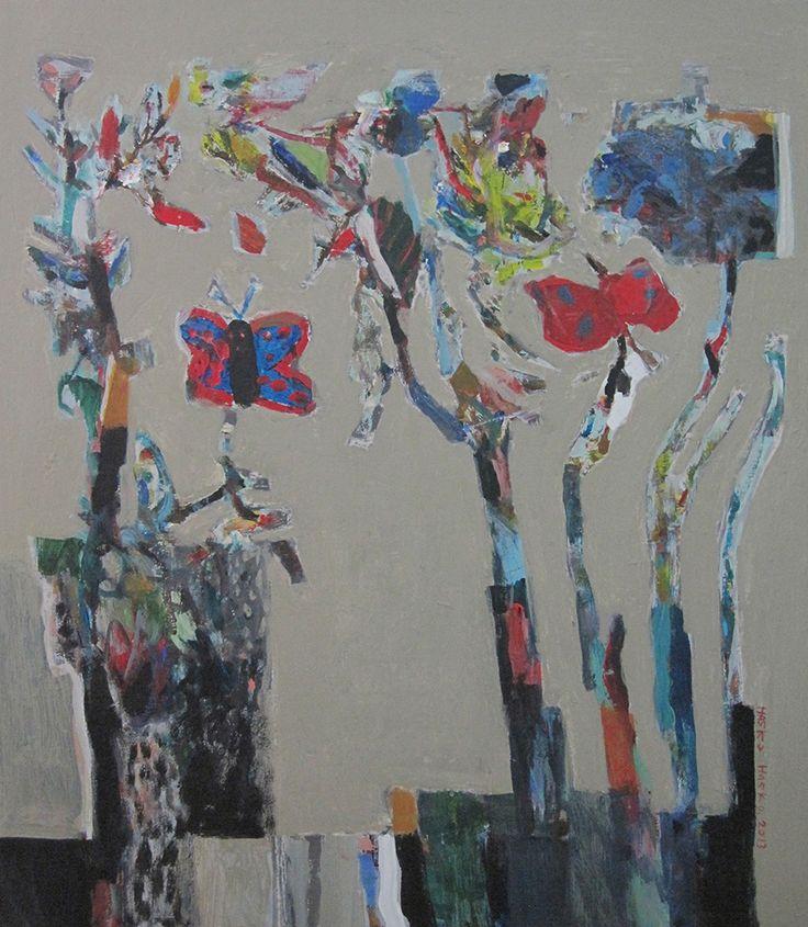 Bina Colors, acrylic on Canvas, 85x74cm