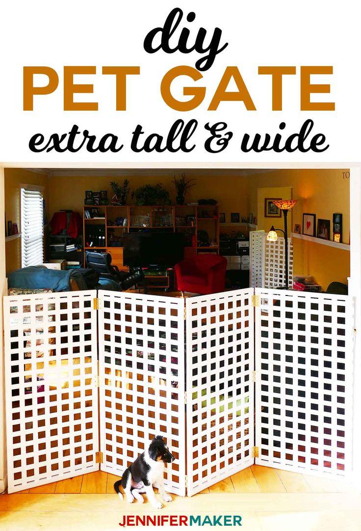 Diy Pet Gate Baby Gate Freestanding Extra Wide Tall Jennifer Maker Pet Gate Diy Safety Gates Diy Dog Gate