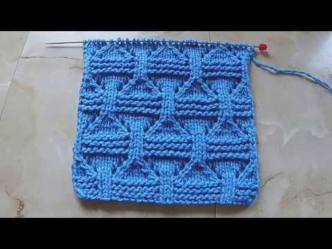 Плотный узор с ажурными вставками Вязание спицами Видеоурок 216 - YouTube
