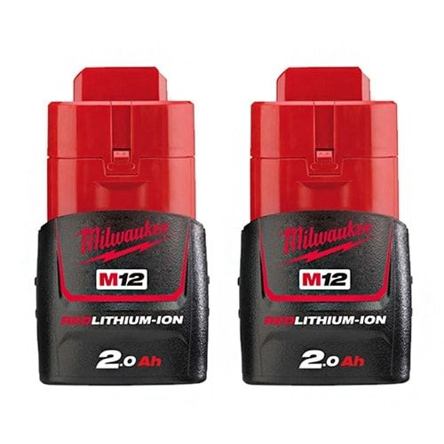 Replacement Battery 2000mAh for Milwaukee 2277-20 / 2429-21XC / 49-24-0146 Power Tool Models (2 Pk)