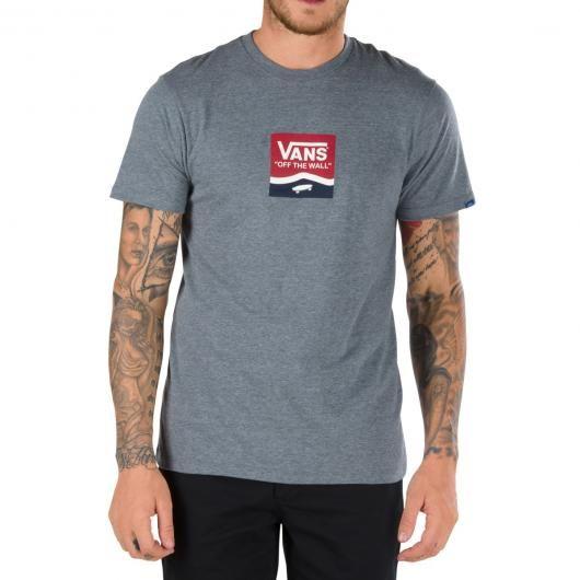 VANS Side Stripe Box tee-shirt gris chiné - blanc 35,00 € #skate #skateboard #skateboarding #streetshop #skateshop @playskateshop