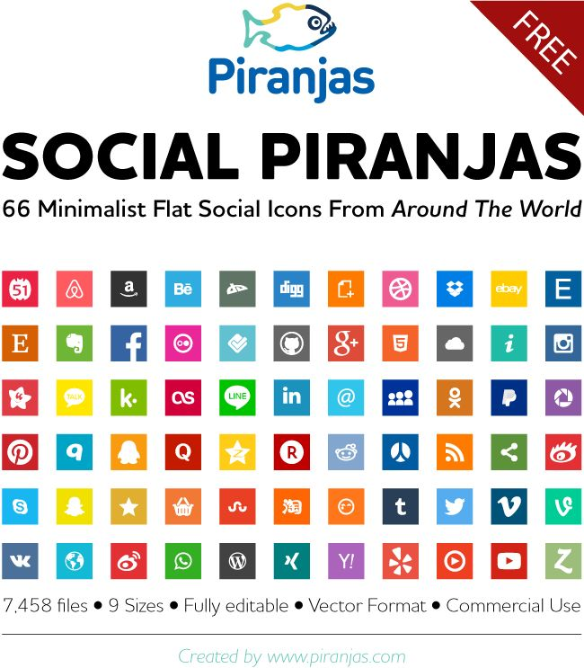 Free Social Icon Set & Collection for China, Russia, USA and more ... - Piranjas