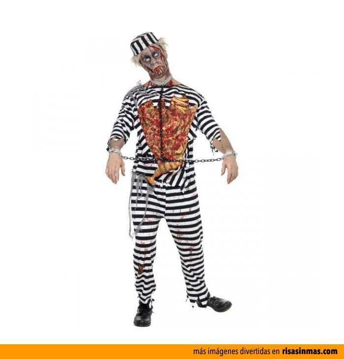 Disfraz de preso zombie.