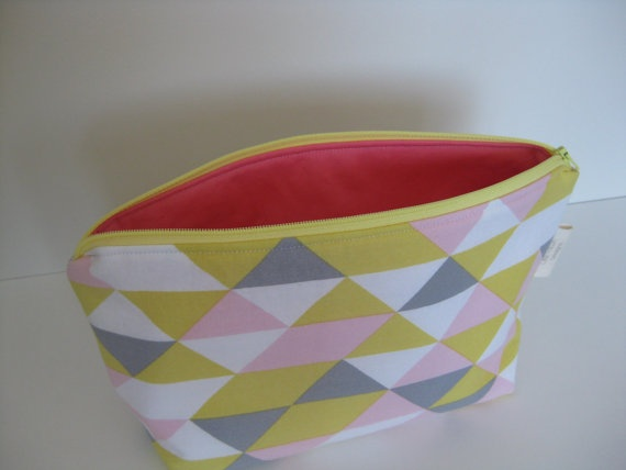 On Point Geometric Cosmetic Pouch by LittleFawnDesigns on Etsy, $20.00  #makeupbag #cosmetic