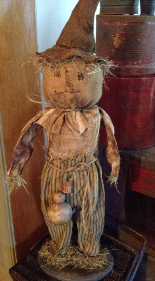 primitive scarecrow designed and handmade by Seasonal Prims