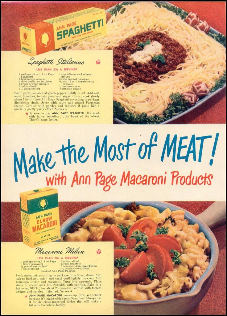 ANN PAGE MACARONI PRODUCTS WOMAN'S DAY 10/01/1948
