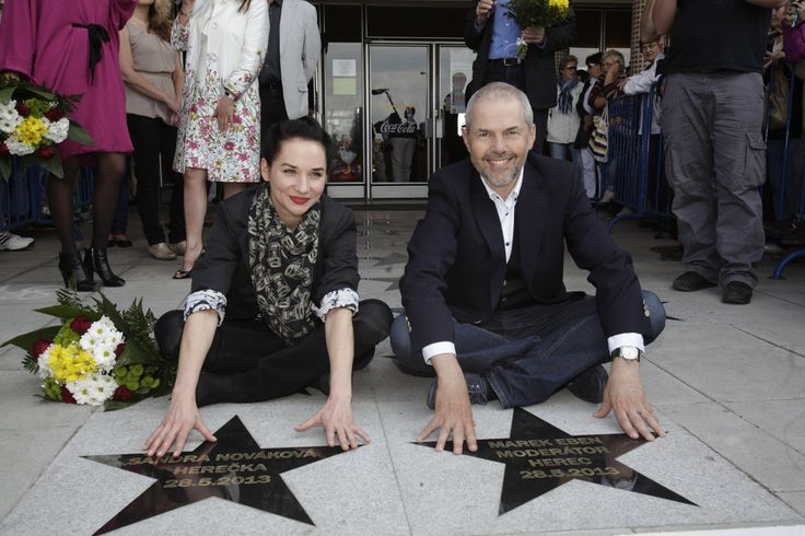 Walk of Fame - Children's film star,  Sandra Novakova and Marek Eben.