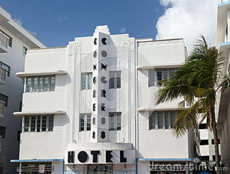 Vintage Art Deco Congress Hotel In Miami Beach On December 3 2012