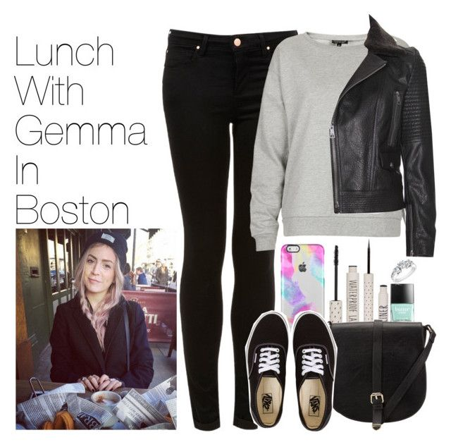 """""""Lunch with Gemma in Boston"""" by onedirectionimagineoutfits99 ❤ liked on Polyvore featuring Topshop, Butter London, John Lewis, Burberry, Vans and Reeds Jewelers"""