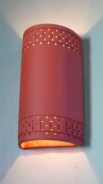 Handmade Ceramic Sconces and Pendant Lighting mediterranean-wall-sconces