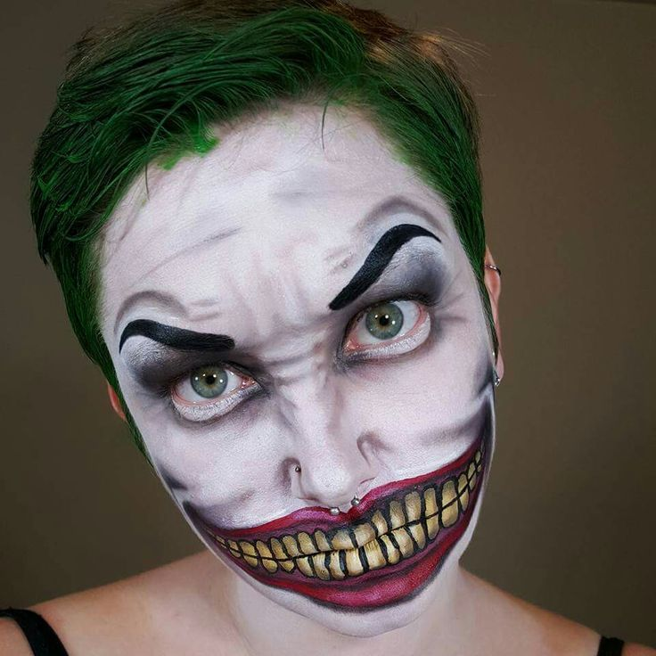 Best 25+ Joker Face Paint Ideas On Pinterest | Diy Halloween Makeup Easy Halloween Makeup And ...