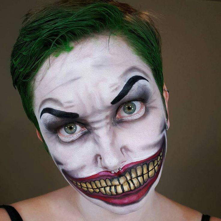 Best 25+ Joker Face Paint Ideas On Pinterest | Diy Halloween Makeup Easy Halloween Makeup And ...