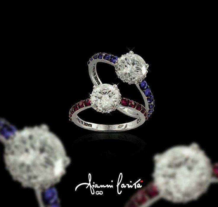 Rosso Rubino o Blu zaffiro? #giannicarita #diamond #diamanti #zaffiri #jewels #gioielli #madeinitaly #anello #luxury #lusso #luxurybrand #italy #jewellery