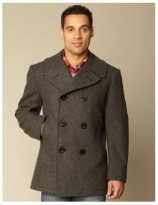 Made in the USA - I need a new coat and the peacoat is a style that just doesn't get old. Gray is the way to go...
