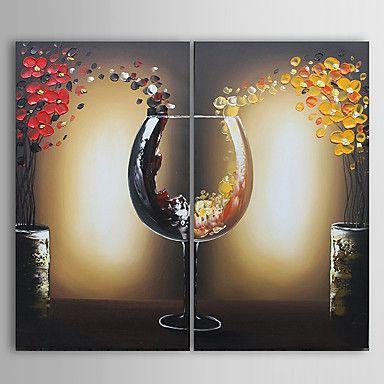 【今だけ☆送料無料】 アートパネル  静物画2枚で1セット ワイン グラス 赤 黄 お花【納期】お取り寄せ2~3週間前後で発送予定