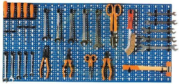 PANNELLO FORATO COMPLETO DI GANCI PZ 40 CM. 98X46 BLU http://www.decariashop.it/ferramenta-utensili-manuali/12614-pannello-forato-completo-di-ganci-pz-40-cm-98x46-blu.html