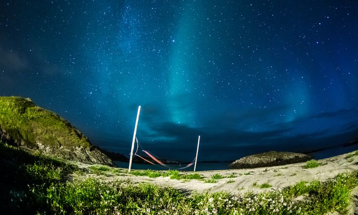 https://flic.kr/p/fQkvWv | Another day at the beach | Captured 50 meters down behind my house, in Andenes, Northern Norway. Used DA10-17mm fisheye lens attached to my trusted Pentax K5. Bulb mode and timed the exposure from what I believed would be correct, according to the clear skies and too strong backlight.