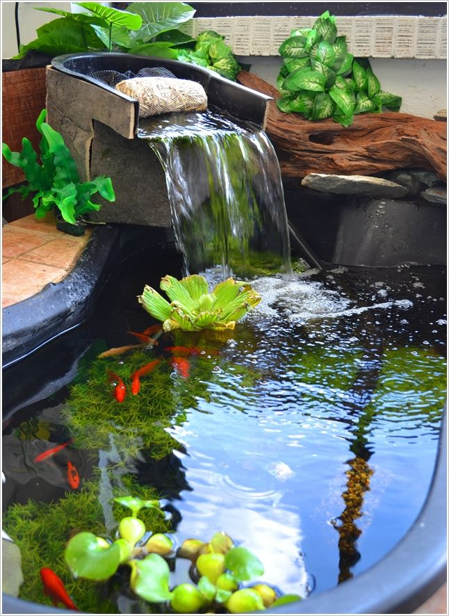 Artificial pond for the home pinterest for Artificial pond in garden