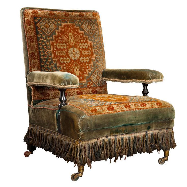 Victorian Carpet Chair. I like the fabric, not so much the style.