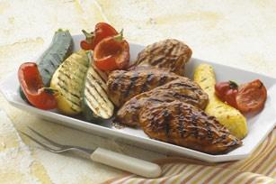 Orange-BBQ Chicken with Grilled Vegetables #kraftrecipes