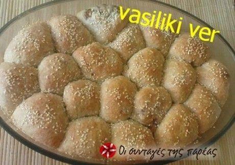 Ψωμί σε μπάλες γεμιστές με τυρί