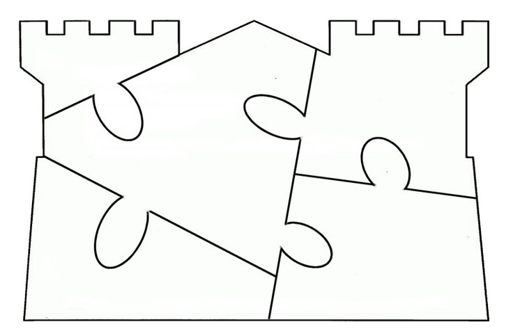 Castle Puzzle Template - free to use